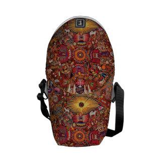 Viaje tribal maya mexicano de Boho del arte de Bolsas De Mensajería