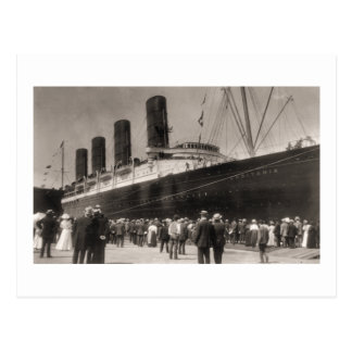 Viaje virginal del Lusitania del RMS, 13 Septemebe Tarjeta Postal