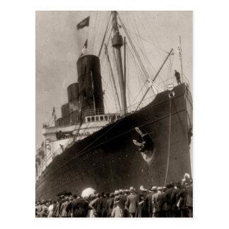 Viaje virginal del Lusitania del RMS, 13 Septemebe Postal