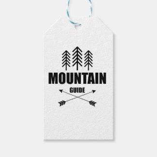 Viaje y aventura, guía de la montaña etiquetas para regalos