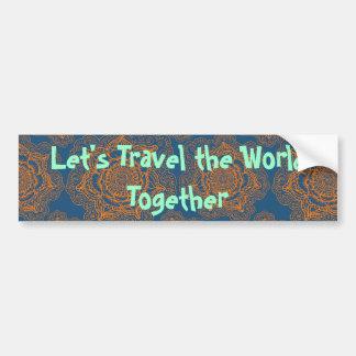 Viajemos el mundo junto pegatina para coche