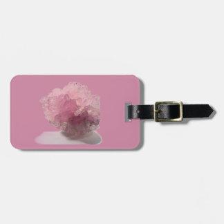 Viajeros de la dicha del cuarzo color de rosa etiquetas para maletas