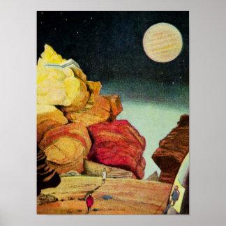 Viajeros del planeta de la mina de la ciencia ficc posters