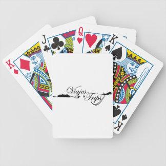 Viajes y viajes barajas de cartas