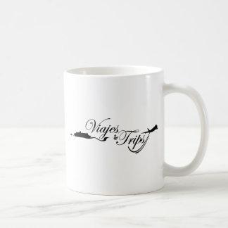 Viajes y viajes tazas de café