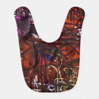 Vibrante colorido y diversión del babero artsy.