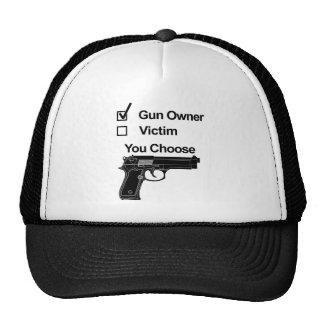 víctima del dueño de arma que usted elige gorras de camionero