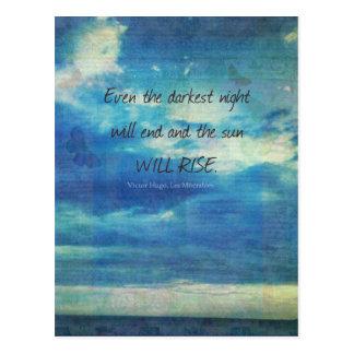 Victor Hugo, cita de Les Miserables inspirada Postal