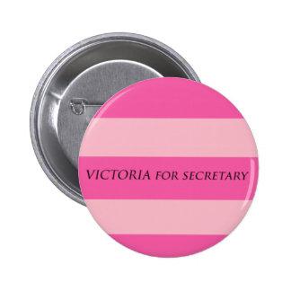 Victoria para la secretaria pins