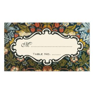 Victorian antiguo que casa número floral de la tarjetas de visita