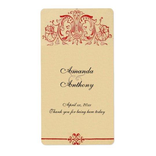 Victorian del vintage, Barroco, casando el vino, Etiqueta De Envío