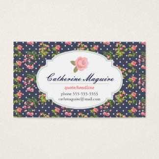 Victorian del vintage floral cualquier empleo tarjeta de visita