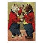 Victorian feliz, osos gay, de bailes del vintage felicitaciones