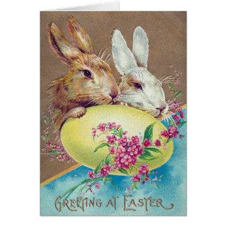 Victorian Pascua Tarjeta De Felicitación