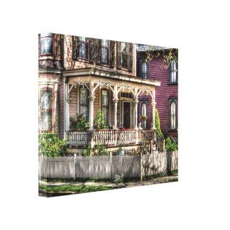 Victorian - pórtico - Victorian del país Impresion En Lona