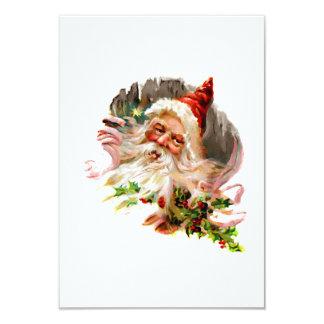 Victorian rosado Papá Noel Invitación 8,9 X 12,7 Cm
