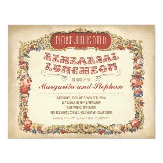 Victorian y vintage del alumerzo del ensayo invitación 10,8 x 13,9 cm
