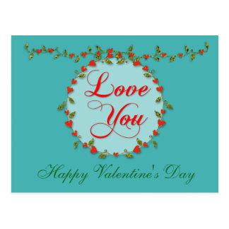 Vid delicada de la tarjeta del día de San Valentín Postal