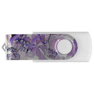 Vid púrpura delicada memoria USB