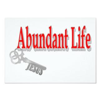 Vida abundante: La llave - v1 (Juan 10: 10) Invitación 12,7 X 17,8 Cm