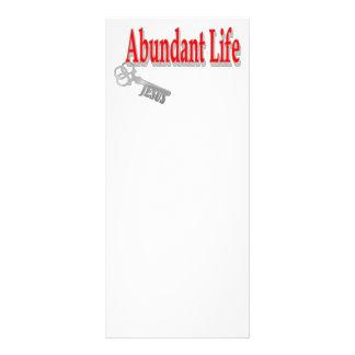 Vida abundante: La llave - v1 (Juan 10: 10) Tarjetas Publicitarias