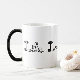 Vida. Amor. El Blogging. Taza Morphing negra