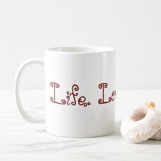 Vida. Amor. El Blogging. Taza - rojo