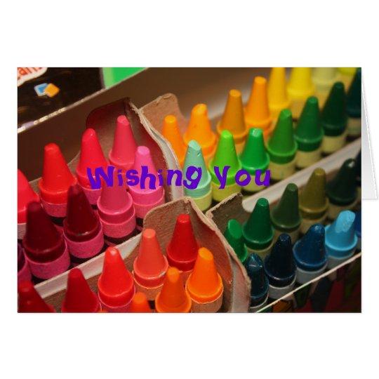 Vida colorida tarjeta de felicitación