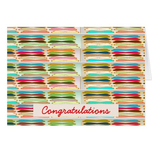 Vida colorida vibrante feliz de n - texto Editable Felicitacion