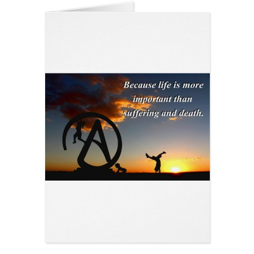 Vida contra el sufrimiento felicitación