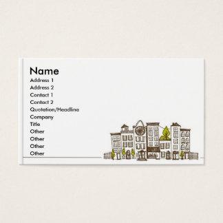 Vida de ciudad tarjeta de visita