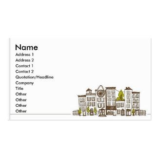 Vida de ciudad plantilla de tarjeta personal