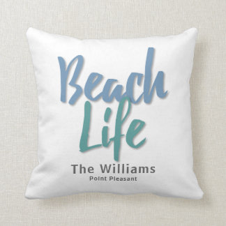 Vida de la playa cojín decorativo