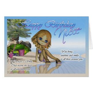 Vida de la playa de la colección de la empanada de tarjeta de felicitación