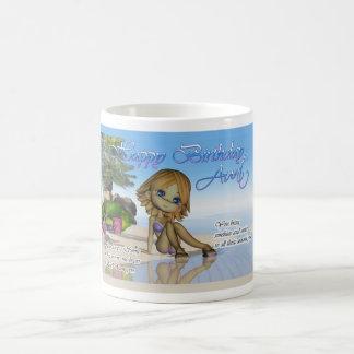 Vida de la playa de la colección de la empanada de taza