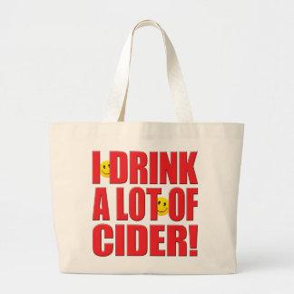 Vida de la sidra de la bebida bolsa tela grande