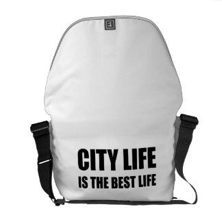 Vida de la vida de ciudad la mejor bolsas de mensajería