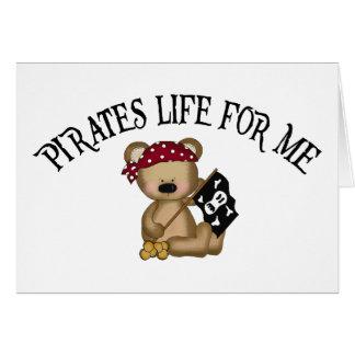 Vida de los piratas para mí tarjetas