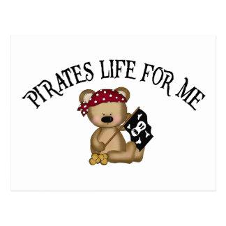 Vida de los piratas para mí postales