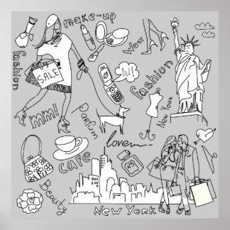 Vida de Nueva York Posters