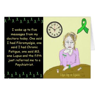 Vida de una señora enferma Cartoon de la Tarjeta De Felicitación