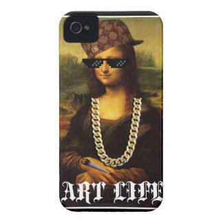 Vida del arte de la vida del gamberro de Mona Lisa Carcasa Para iPhone 4 De Case-Mate