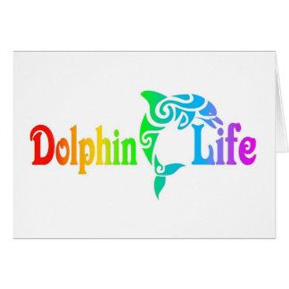 Vida del delfín tarjeta de felicitación