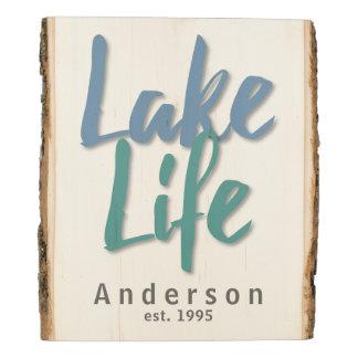 Vida del lago panel de madera