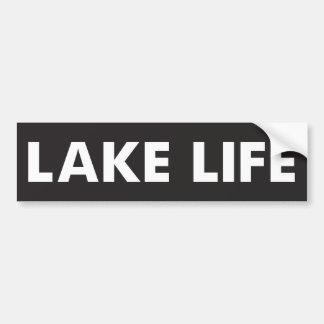Vida del lago pegatina para coche