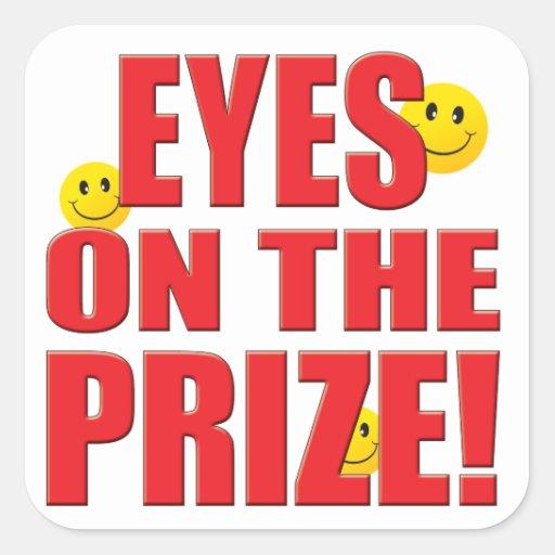 Vida del premio de los ojos calcomanía cuadradas personalizadas