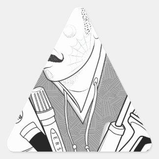 Vida del vándalo pegatina triangular