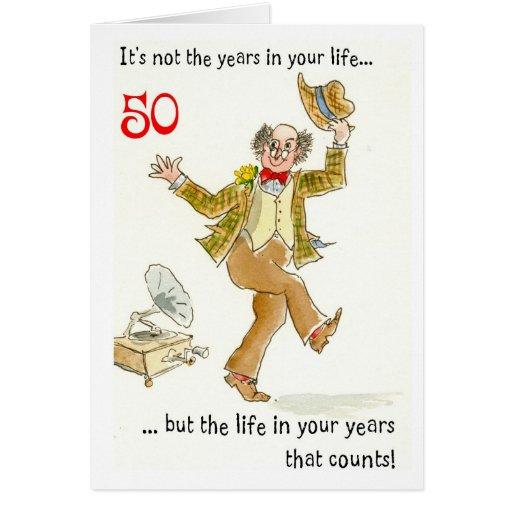 Tarjeta de cumplea os 50 a os hombre imagui - Cumpleanos 50 anos hombre ...