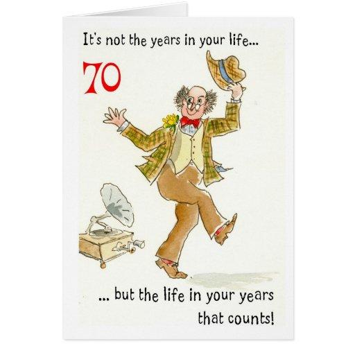 Tarjetas para cumpleaños de 70 años - Imagui