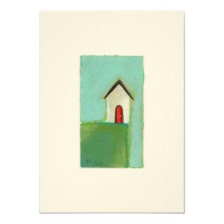 Vida en el borde - pequeño arte adorable de la invitación 12,7 x 17,8 cm